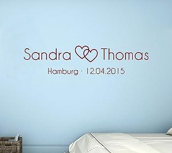 tjapalo® dur-pkm290 Wandtattoo Schlafzimmer romantisch modern ...