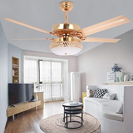 Genial Tropicalfan Metal LED Ceiling Fan With Remote Control 1 Glass Light Cover  Home Decoration Living Room