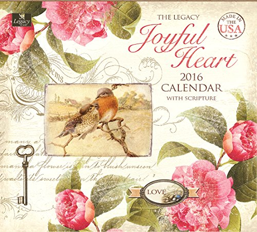 Legacy Publishing Group 2016 Wall Calendar, Joyful Heart (WCA19943)