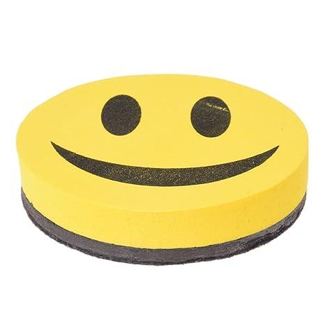 SODIAL(R) Borrador Magnetico en Seco Sonrisa para Pizarra EVA Escuela Nuevo