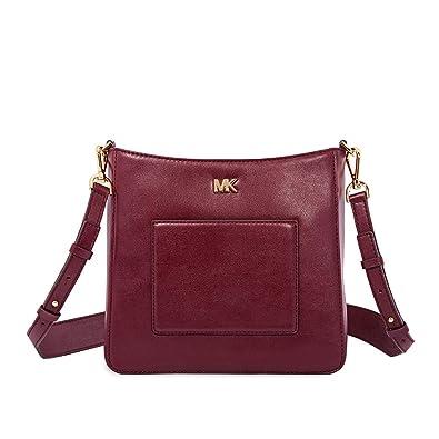 a5df97d0c0af Amazon.com  Michael Kors Gloria Leather Messenger Bag - Oxblood  Shoes