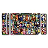 Super Smash Bros Melee Brawl Mario Pikachu Yoshi Mega Man Zelda Sonic Metroid Stained Glass Art Video Game Vinyl Decal Skin Sticker Cover for the Nintendo Wii System Console by Vinyl Skin Designs