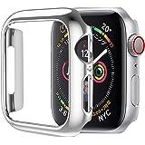 HOCO コンパチブル Apple Watch4 ケース アップルウォッチ4 カバー 44mm メッキ PC素材 軽量超簿 耐衝撃性 脱着簡単 Apple Watch 保護ケース Apple Watch Series 4に対応 (44mm/シルバー)
