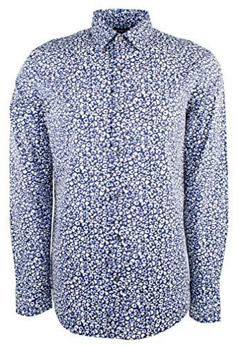 Michael Kors Men's Trim Stretch Cotton Long Sleeve Shirt-M-XL (Shirts Micheal Mens Kors)