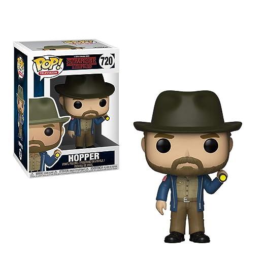 Funko 36039 Pop Vinilo: Televisión: Stranger Things: Hopper con Linterna, Multi