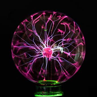 Marvelous Boshen Nebula Glass Plasma Electrostatic Ball Magic Lightning Lamp Sphere  Touch Sensitive With Sound USB Or