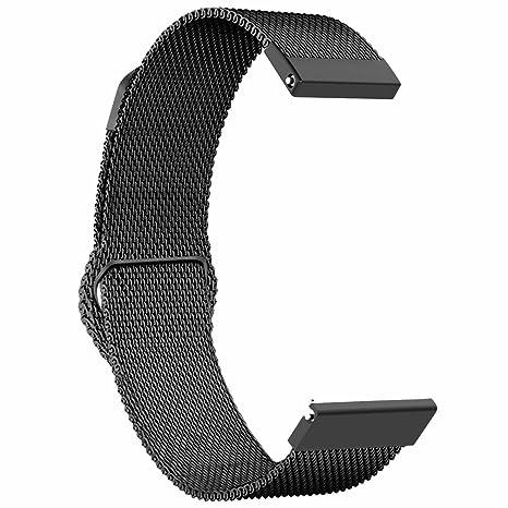 Ruentech Bracelet de Rechange pour Montre connectée Polar Vantage M GPS 22 mm Milanese Loop Band