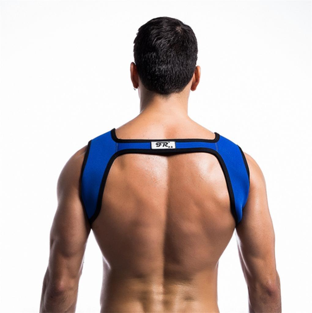 m DZW Mens Fitness Spalle In Neoprene Harness Sport Shoulder Supports Bretelle Protective Gear Fitness black