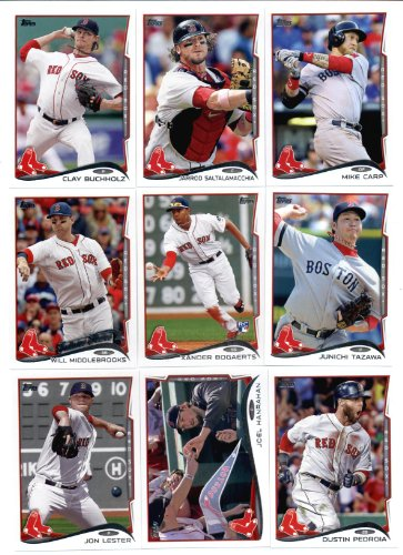 Topps Cards Sox Baseball Boston Red - 2011, 2012,2013 & 2014 Topps Boston Red Sox Baseball Card Team Sets (Complete Series 1 & 2 From All Four Years) Includes 2013 World Champions Set