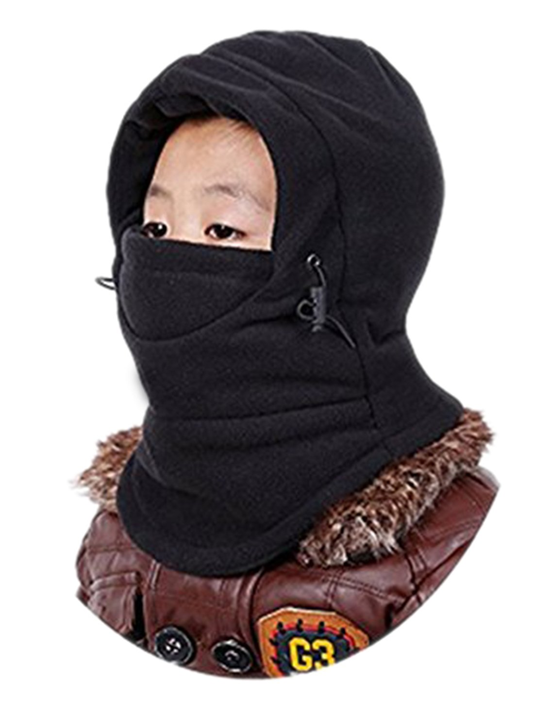 Children's Winter Warm Hat Windproof Ski Cap Thick Thermal Adjustable Balaclava Hood