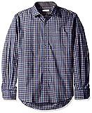 Alex Cannon Men's Long Sleeve Sugar Grove Plaid Shirt, Black, X-Large