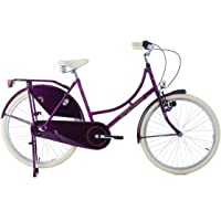KS Cycling Vélo hollandais 26'' Dame Dutch Classic 3 Vitesses Pourpre TC 48 cm