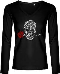 t-shirt tête de mort strass 3