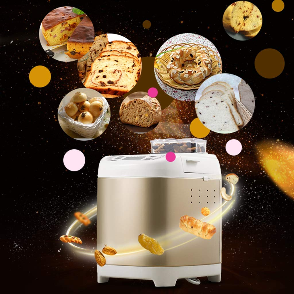 Máquina de pan, máquina de pan de oro, puede hacer su propio pan, máquina de amasado multifunción, máquina de desayuno, fácil de preparar el desayuno ...