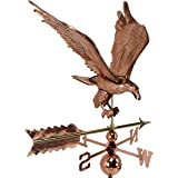 Weathervane Large, Polished Copper With Roof Mount (Eagle)