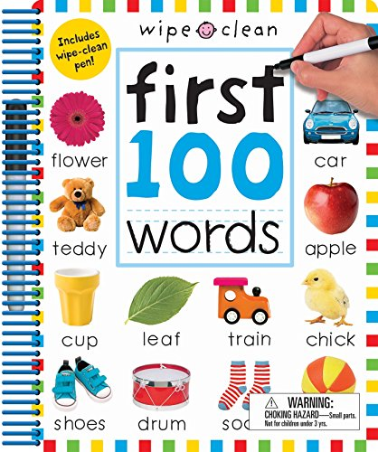 Wipe Clean: First 100 Words - Extended Edition: Includes Wipe-Clean Pen (Wipe Clean Learning Books)