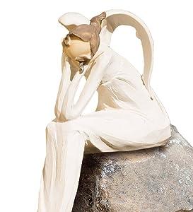 Wind and Weather Thinking Angel Garden Statue