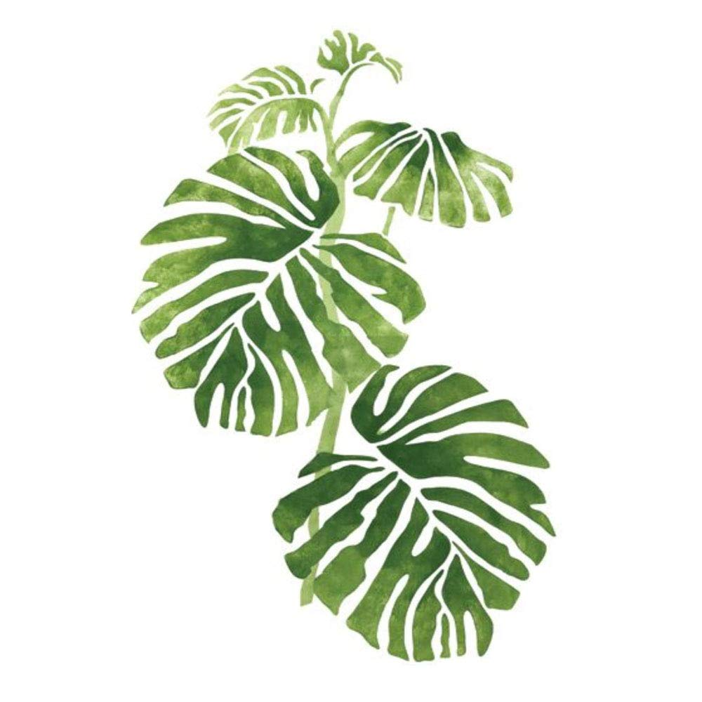 DIY Paint by Numbers Kit for Adults - Indoor Plant Leaves | Paint by Number Kit On Canvas for Beginners | Home Wall Decor | Pre-Printed Art-Quality Canvas 20'' x 16'', 3 Brushes, 24 Acrylic Paints by Alto Crafto