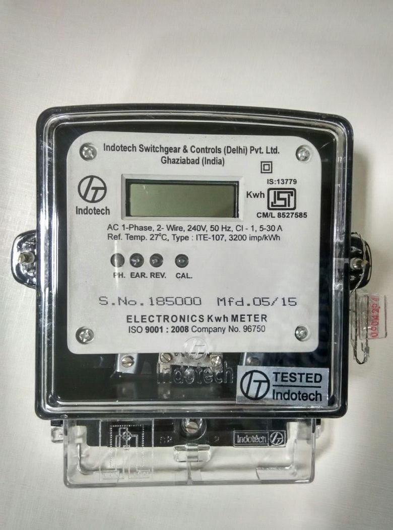 INDOTECH METER ITE-107 Single Phase Energy Meter with LCD Display ...