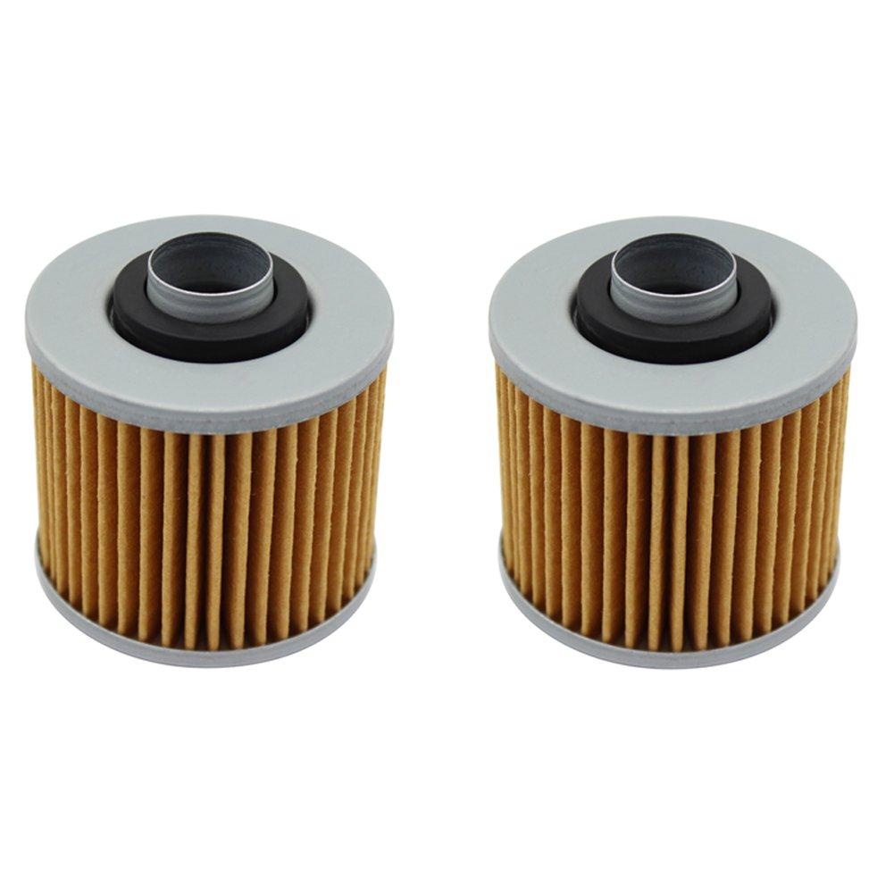 /2010/ Pack de 2 cyleto Filtro de aceite para Yamaha XVS650/V-Star 650/Custom 1998/ /2011//XVS 650/V estrella 650/Classic 1998/