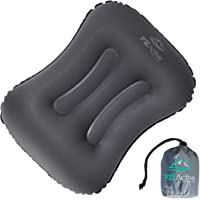 FE Active - Inflatable Ultralight Compact Pillow with Dual Contours for Traveling, Camping, Hiking, Backpacking, Trekking, Airplanes | Designed in California, USA