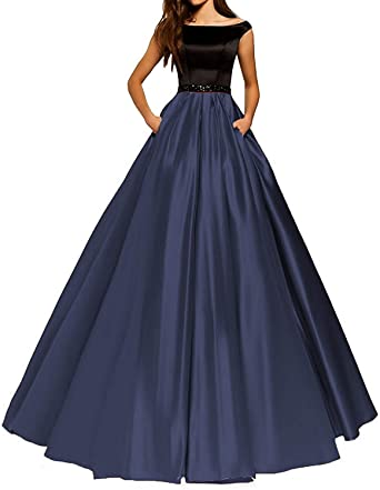 a63164c7d6 PromQueen Satin Vintage Beaded Bridal Gown Sexy A-line Floor Length Lace  Slim Prom Dresses