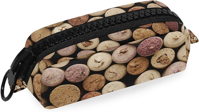 LUPINZ - Estuche para lápices, diseño retro de corchos de vino con cremallera de plástico grande: Amazon.es: Bricolaje y herramientas