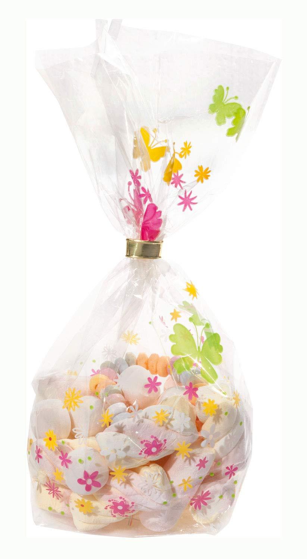 Pralinen Zellglasbeutel mit Fr/ühlingsmotiv Pl/ätzchen 8 St/ück folia 271//8 ca ideal zum Verpacken von Geb/äck 11,5 x 19 cm