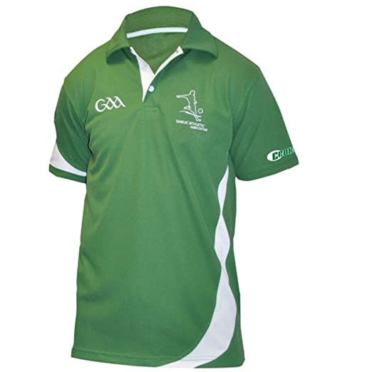 5889f72ff Croker GAA Polo Shirt - Green Polyester Embroidered Athletic Jersey ...
