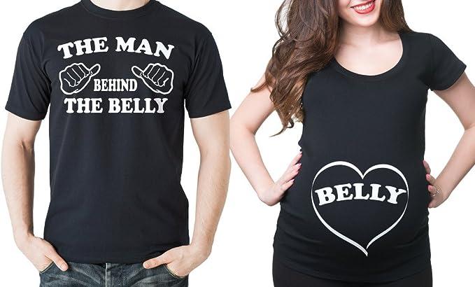 Milky Way Tshirts Mujeres de Maternidad del Vientre Dos Camisetas Baby  Shower Papá Camisetas Camiseta de la Maternidad  Amazon.es  Ropa y  accesorios f159989b8a510