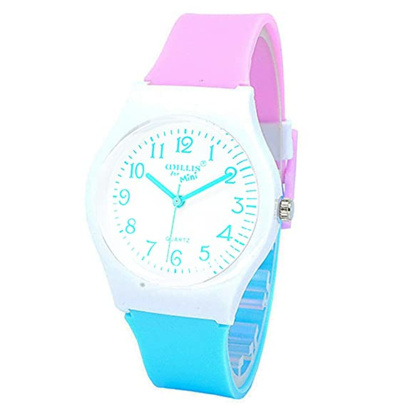 Kids Boys Girls Children Watches,Teen Student Time Teacher Watch Resin Band Wristwatches for Boys