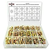 Grade 8 Hex Cap Bolts Screws, Nuts, Washers, Lock Washers Assortment Kit - 380 Pieces!