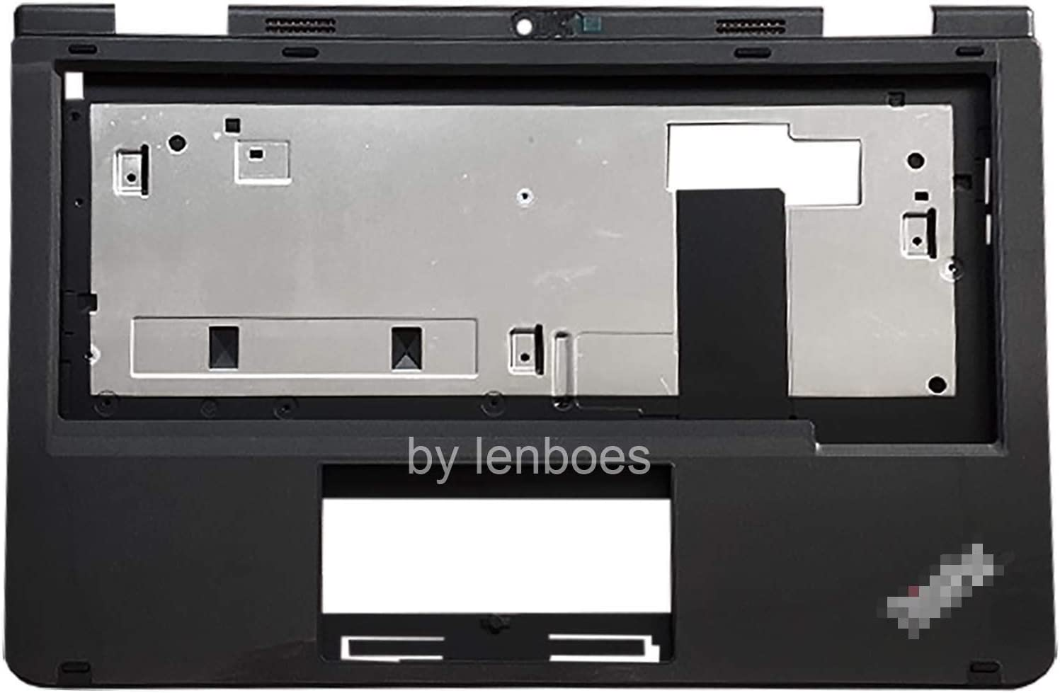 lenboes Laptop Palmrest Upper Case Top Cover with Webcam Hole for Lenovo Thinkpad 11e 5th Gen 2018 02DC096 02DC013