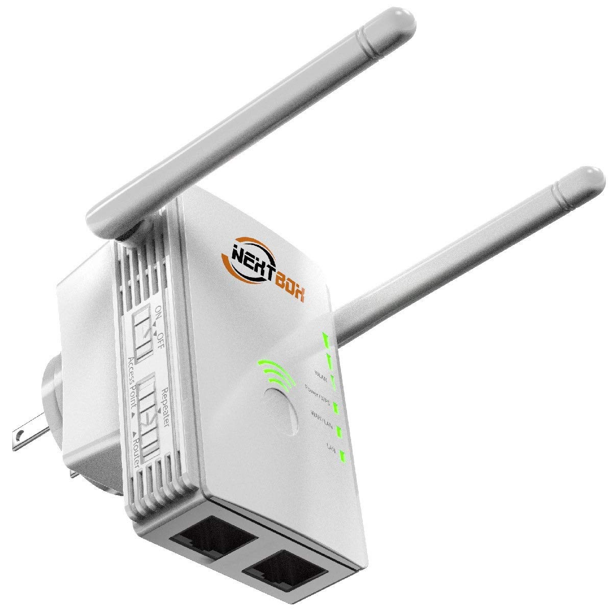 Extends WiFi Coverage to Smart Home Devices WiFi Extender 300 Mbps with WPS Internet Signal Booster Upgraded 2020 Wireless Repeater 2.4GHz Band to 300 Mbps Range Network Compatible with Alexa
