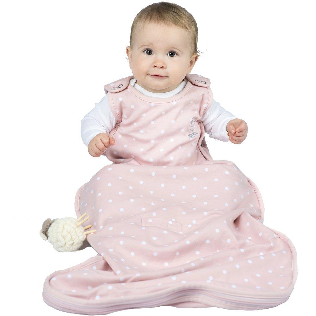 Woolino 4 Season Baby Wearable Blanket - Merino Wool - 2mo- 2yrs - Rose