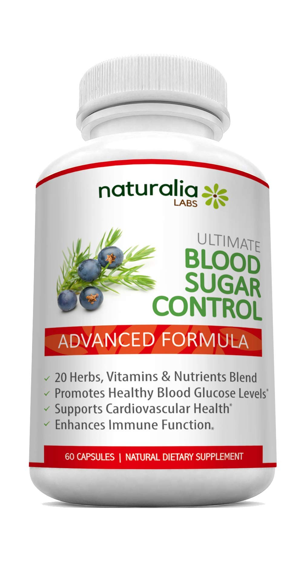 Naturalia Labs - Blood Sugar Support Supplements - Promotes Healthy Blood Glucose Levels - Supports Cardiovascular Health - with Vitamin C, Magnesium, Alpha Lipoic Acid, Zinc, Cinnamon, Licorice Root by Naturalia Labs