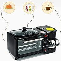 LJ-MBJ Chambres D'hôtes Maker, Multifonction Entièrement Automatique Grille Pain, Four Machine à Café, 3 en 1 Petit Déjeuner Automatique, Facile à Nettoyer, Verbrühschutz