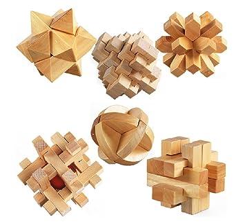 Magikon Brain Teaser Cube Puzzle Toy Set Of 6 Brain Teasers