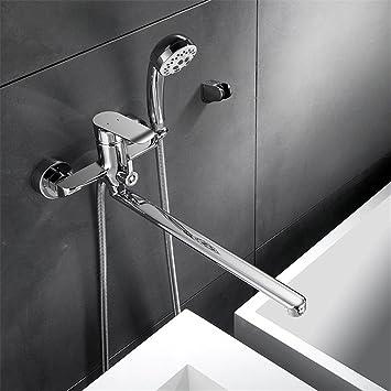 Einhebel Wannenarmatur Bad Wandarmatur für Badewanne mit Duschkopf /& Zubehör