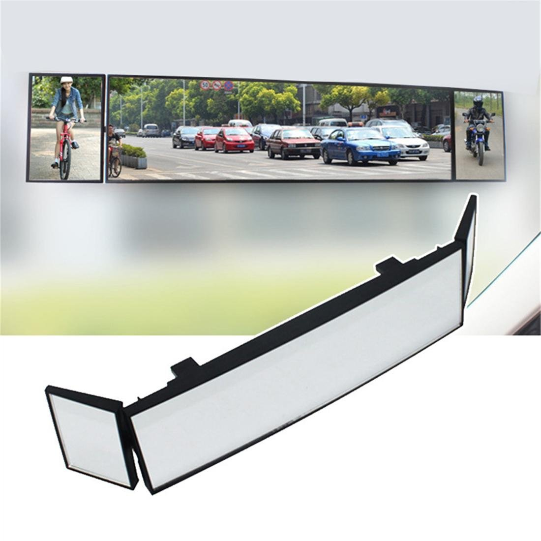 Car Rearview Mirrors Foldable Rotatable 3 Mirrors Set Universal Wide Vision, Panoramic Rear View Mirror Clip Zcar