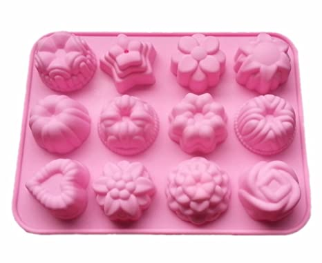 Hosaire Molde para hornear de silicona para pasteles, chocolate, jalea, pudín, moldes