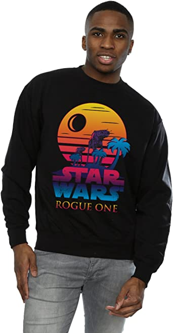 Star Wars Hombre Rogue One Logo Sunset Camisa de Entrenamiento: Amazon.es: Ropa y accesorios