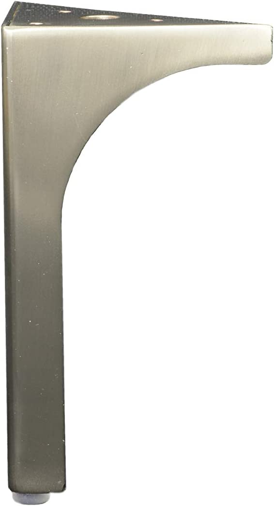 "BingLTD - 6"" Brushed Nickel Metal Sofa Legs - Set of 4 (ML-60T-BN-FBA)"