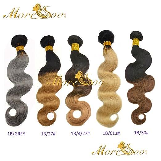 More Soo Ombre Brasil ianishes pelo auténtico Weave Extensions Natural Pelo Black to más color 100 gramos/bundeln: Amazon.es: Belleza