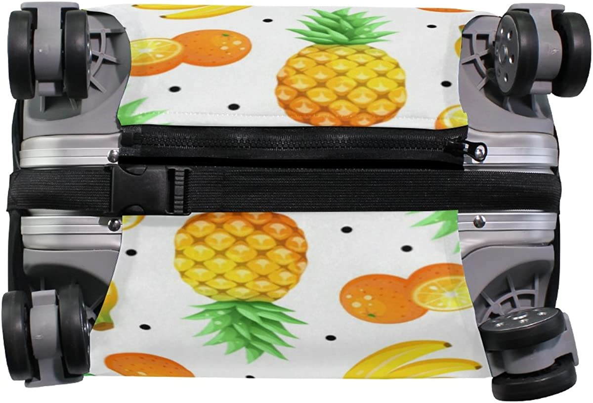 Elastic Travel Luggage Cover Hello Summer Tropical Fruits Suitcase Protector for 18-20 Inch Luggage