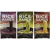 Lotus Foods Gluten Free Rice Vegan Ramen & Miso Soup 3 Flavor 6 Bag Variety Bundle: (2) Millet & Brown Rice Ramen, (2) Forbidden Rice Ramen, and (2) Jade Pearl Rice Ramen, 2.8 Oz Ea (6 Tot)
