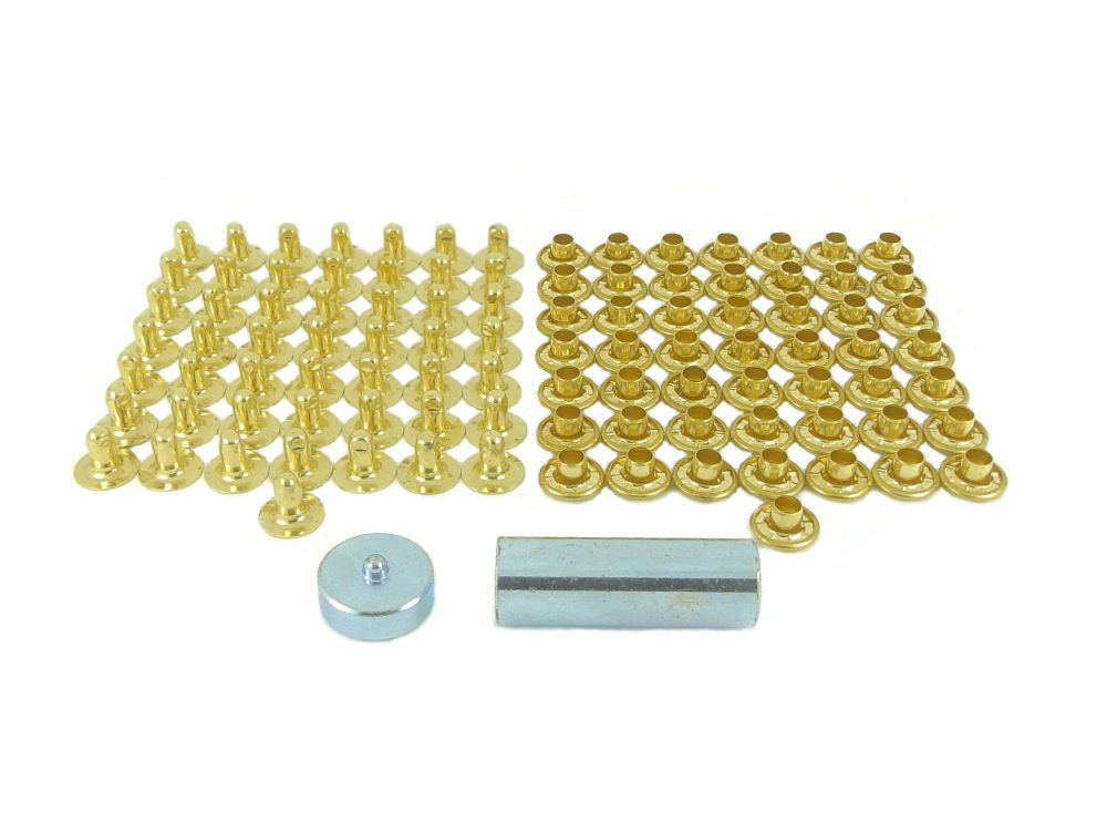 BP 504-10-8 M00 Kit de Remaches Lató n Niquelado, Casquillo de 10,5mm con Remache de 8,0mm Ossian Fasteners