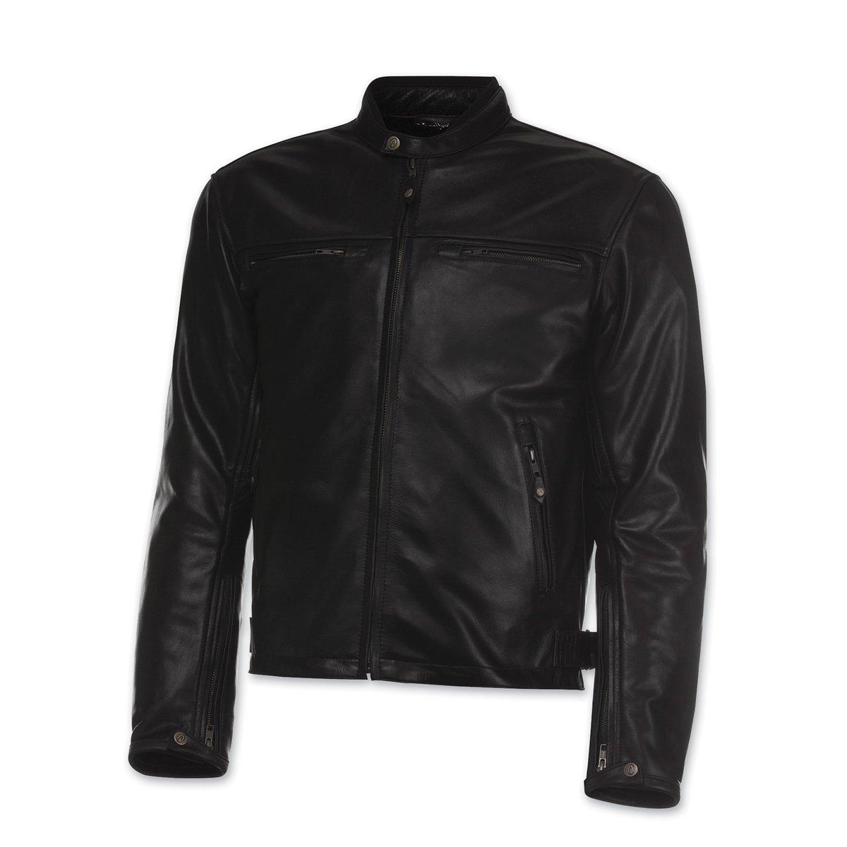 Olympia Moto Sports Men's Bishop Black Leather Jacket, XL