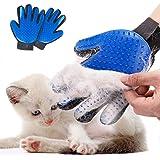 Pet Grooming Glove Hair Remover Brush Gentle Deshedding Efficient Pet Mitt Pet Massage Gloves Left & Right Hand Draw…
