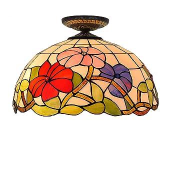 De Techo Tiffany Topdeng Diseño Vintage Luz E2716 Estilo Lámpara VMzpqGSU